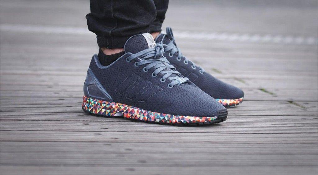 87d82ffe0d67b ... reduced adidas originals zx flux zx flux women grey shoes adidas shoes  women adidas originals superstar