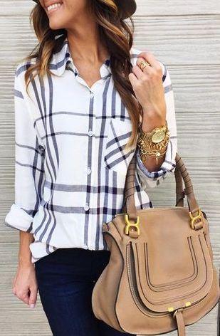 Plaid Fall Style - Fall Outfit Idea