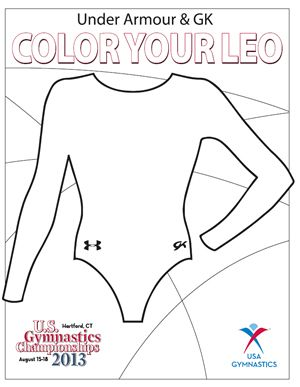 Under Armour And Gk Color Your Leo Contest Gymnastics Skills Gymnastics Coaching Gymnastics Camp