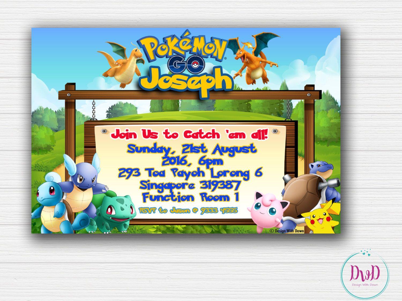 Pokemon Go Birthday Invitation