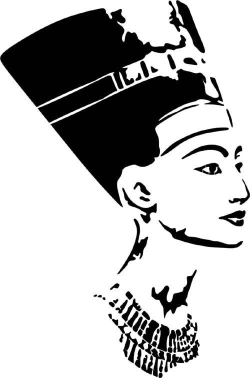 stencil Schablone Nofretete …   hempel schablonen   Pinte…
