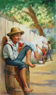 ~ Apples for all the kids, and maybe even bobbin for em! The Adventures of Tom Sawyer