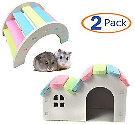 Wooden Hamster House Rat Mouse Exercise