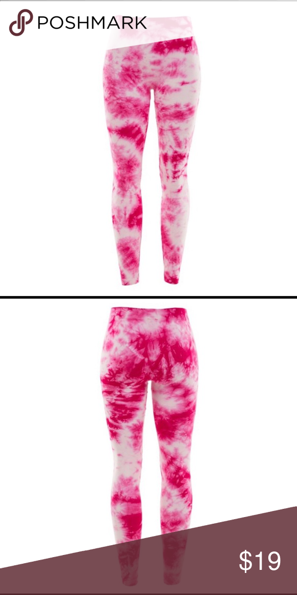 88b856c58e220 Hot pink tie-dye leggings! 90% cotton and 10% spandex. Tag says one size.  Fits xsmall-small. Fashionomics Pants Leggings