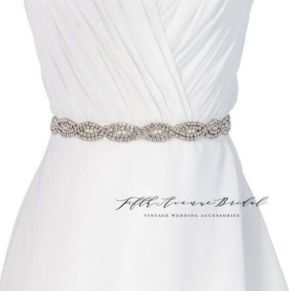 5838fd1a3 ON SALE Rhinestone wedding belt, Bridal Sash, Wedding Belt, Wedding Sash  Rhinestone Sash S 10567 Lovely rhinestone bridal sash. It is …