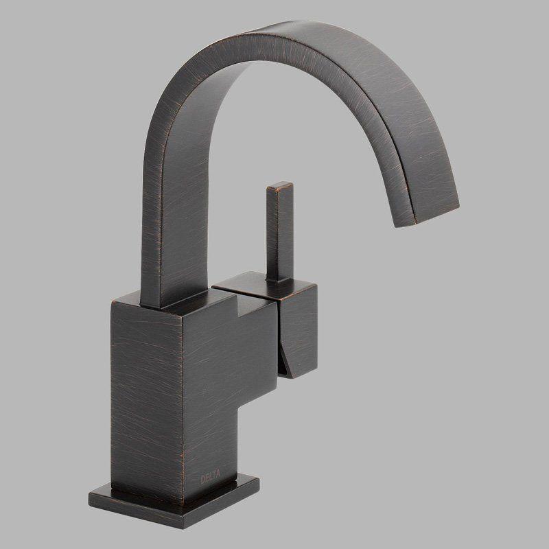 Delta Vero 553LF Single Handle Centerset Bathroom Sink Faucet ...