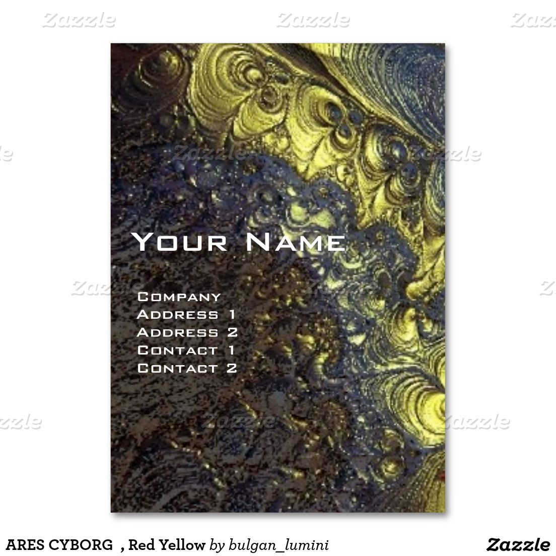 Ares cyborg red yellow large business card business cards ares cyborg red yellow large business card magicingreecefo Choice Image