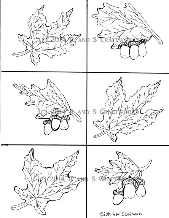 Thanksgiving Fall Leaves Coloring Page by RandSCraftworks on Etsy ...