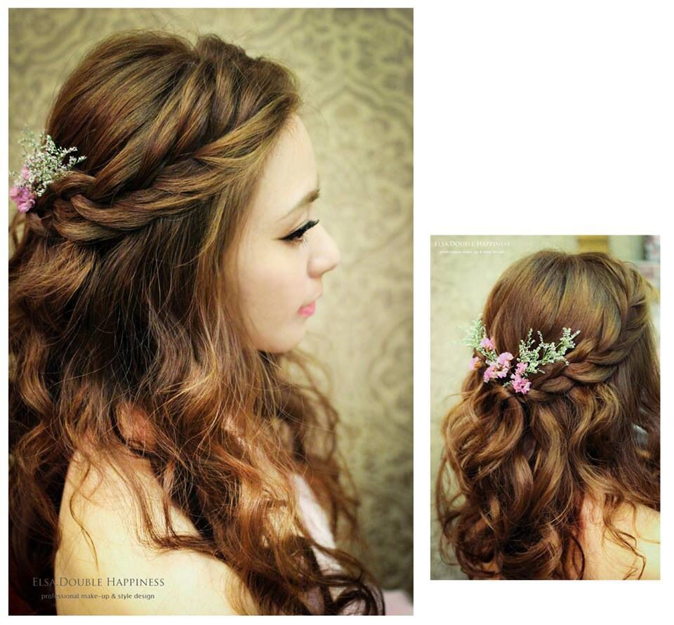 hair style by elsa double happiness from taiwan | bridal