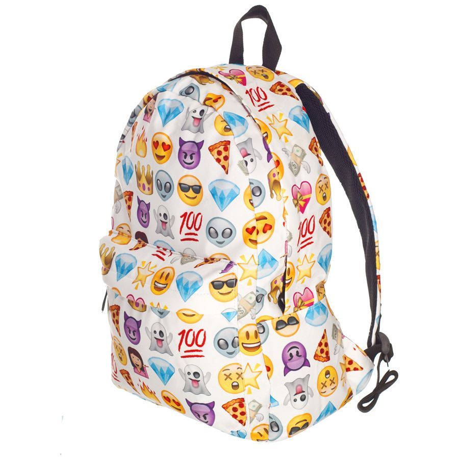 fa93cfeb63 Hot Shoulder Oxford 3D Printing QQ Emoji Backpack Schoolbag Travel Bag  Zipper Cartoon Smiley Shoulder Bag