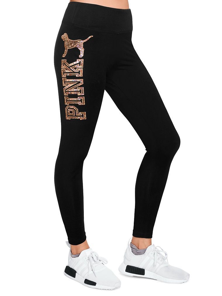 42c5cd7c4931d Page Not Available - Victoria's Secret. Bling Cotton Yoga Legging in Bling  Pure Black With Rose Gold Sequins