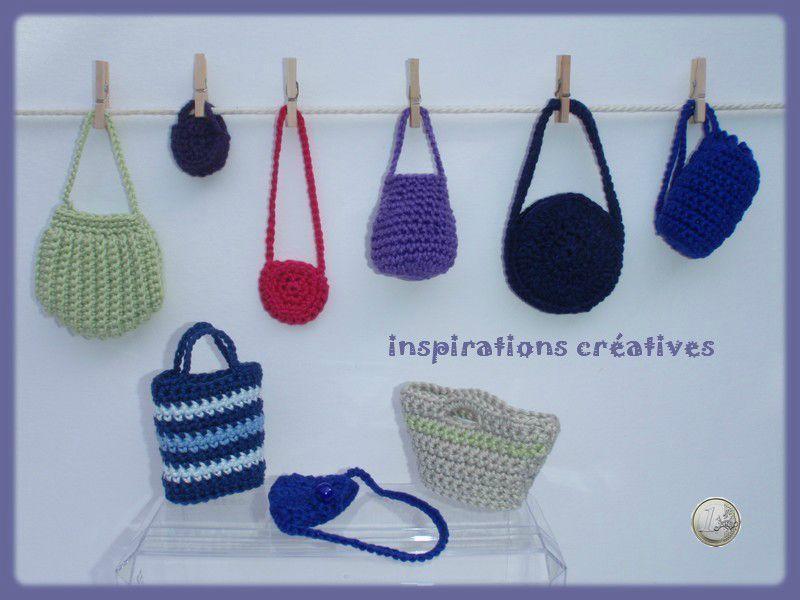 sacs miniatures au crochet crochet miniatures tricot et crochet poup es en crochet et sac
