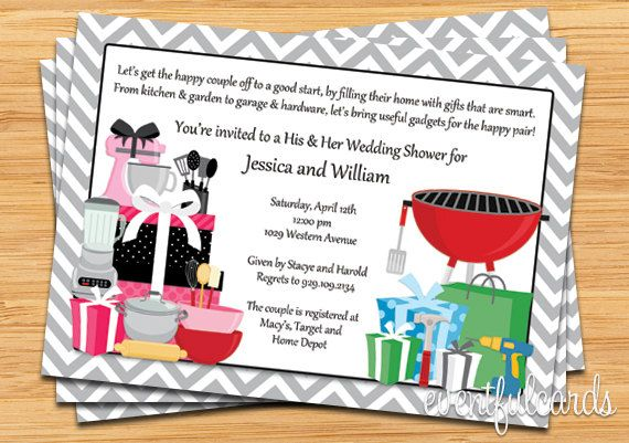 His And Her Wedding Shower Gifts : his and hers couple wedding shower invitation couples bridal showers ...