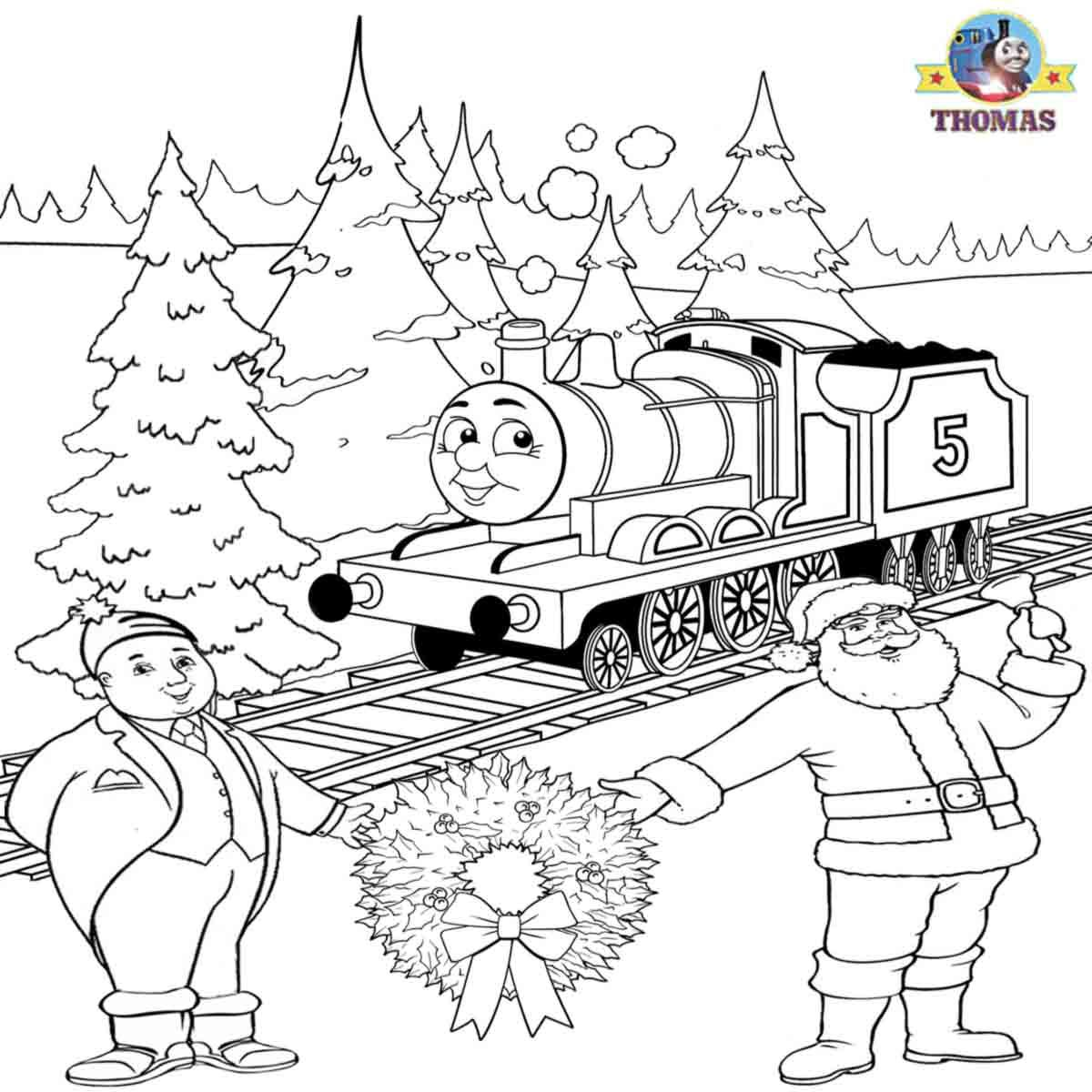 Christmas Train Coloring Pages Free
