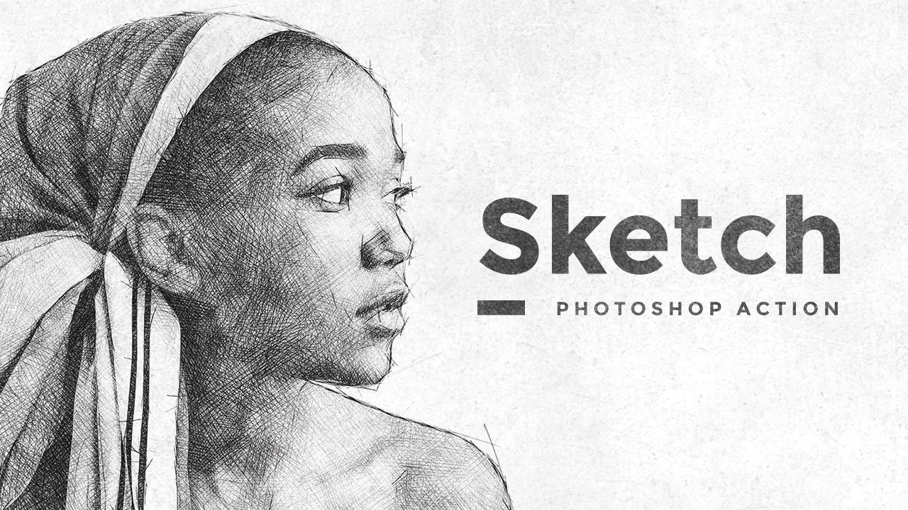 Sketch effect photoshop action tutorial