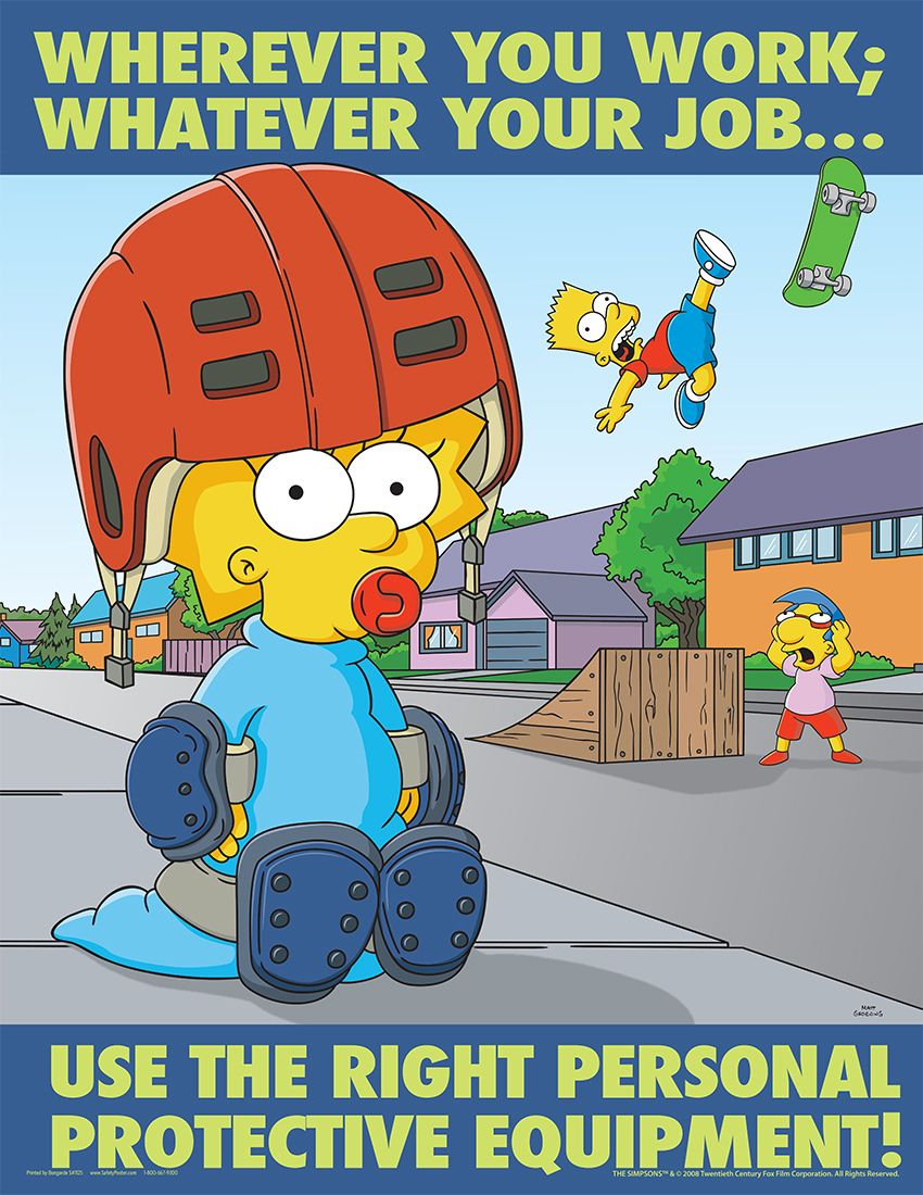 Kitchen safety poster project - Simpsons Poster Posters Personal Protective Equipment Ppe Safety Posters Simpsons