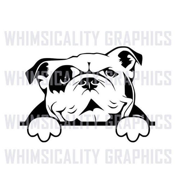 Pin By From Jenny S Garden Paperart On Jenny S Dogs Bulldog Clipart Dog Stencil English Bulldog
