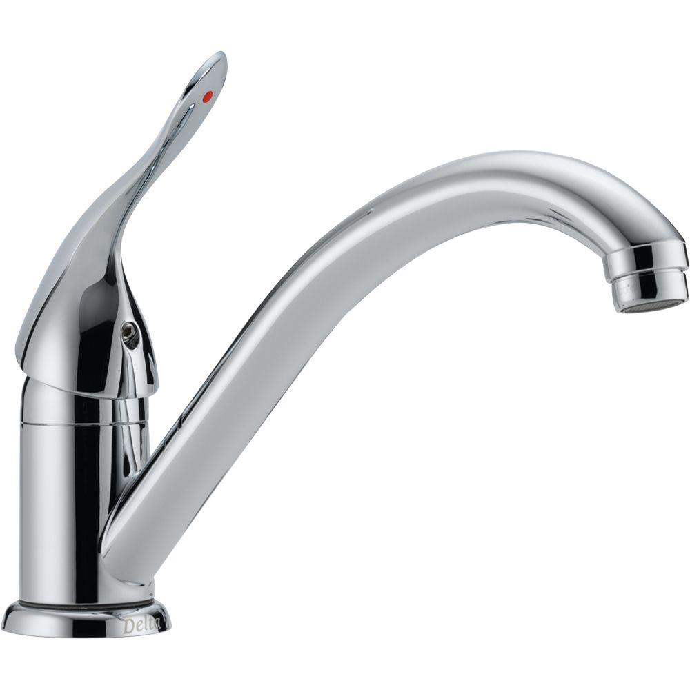 Delta Classic Single Handle Standard Kitchen Faucet In Chrome