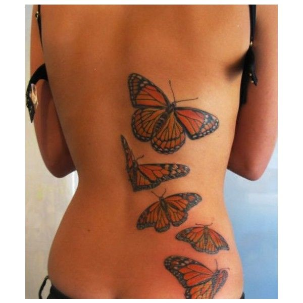 Photo of Butterfly Tattoos On Back For Girls | Sexy Butterfly Back Tattoo |… ❤ liked …