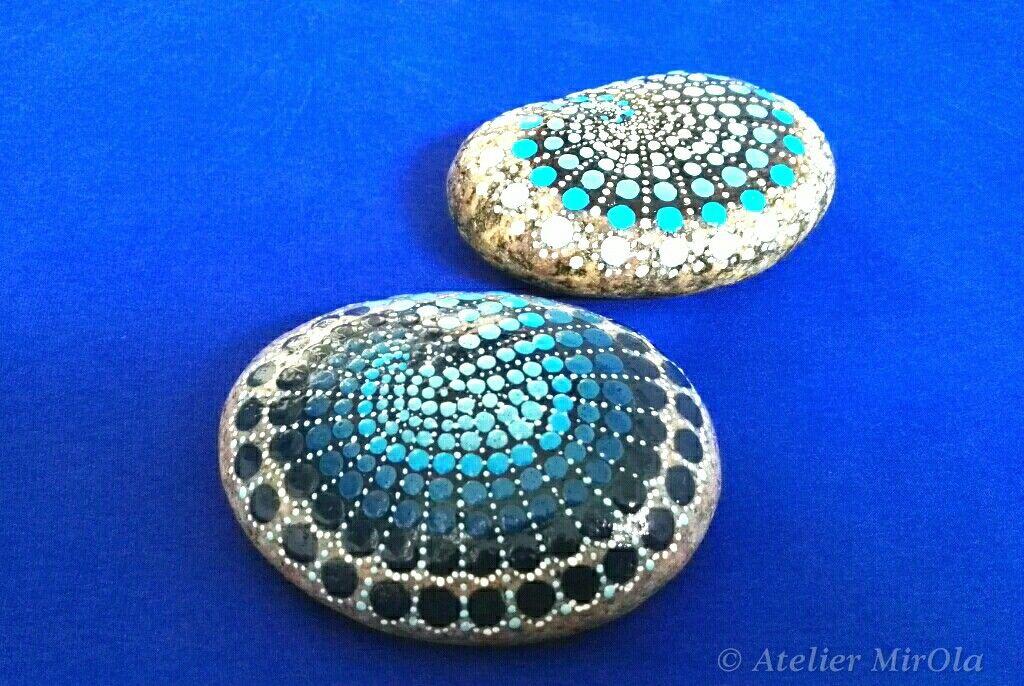 Garten  Haus Dekoration, wunderschönes Geschenk, Mandala Steine für