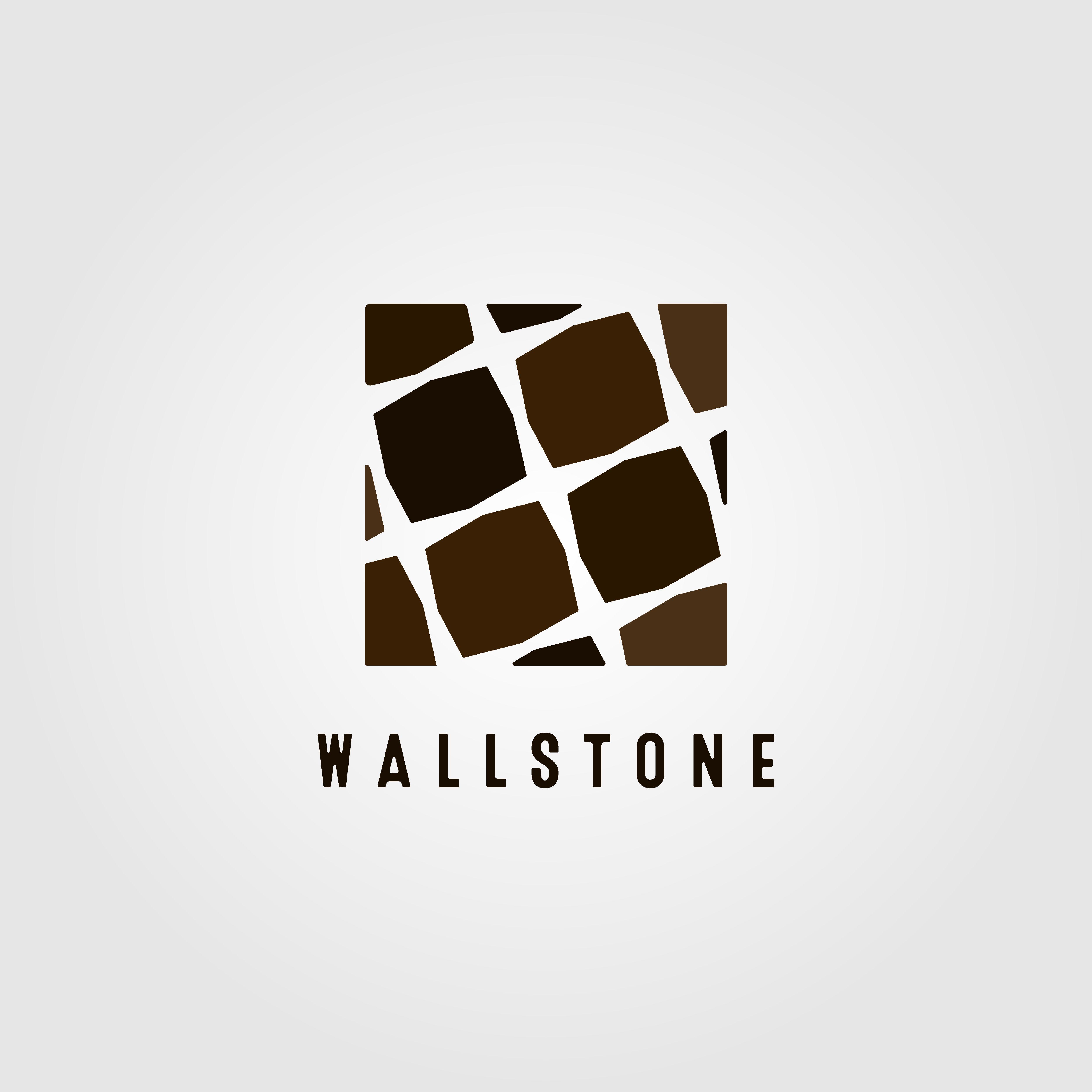 Carpentry Wall Stone Logo Design Vector Icon Illustration Brick Granite Masonry Abstract Architecture Ar Logo Design Camera Logos Design Wall Logo