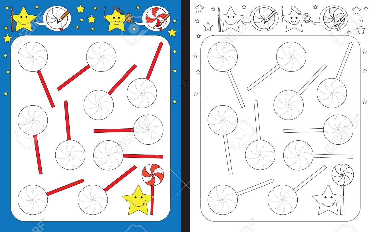 Preschool Worksheet For Practicing Fine Motor Skills