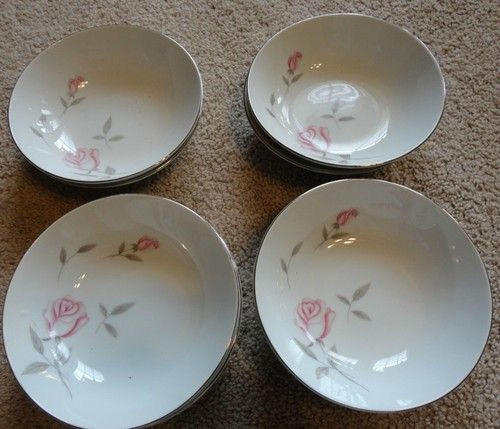 8 Argent Rose Small Bowls Gambles Import Corp Japan Vintage China