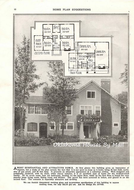 Wm. R. Radford 1923 pg10 in 2019 | House plans, House ... Radford House Plans With Sleeping Porch on house plans with wrap around porch, cabin plans with sleeping porch, home with sleeping porch, house plans with screened porch, house plans for homes built on a slope, waterfront house plan with porch,
