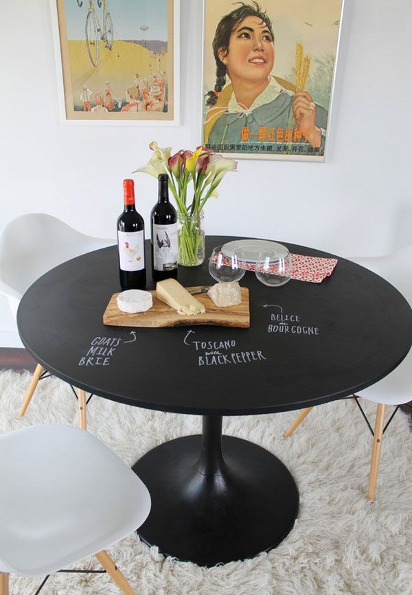 7 paint ideas to transform a dining table  chalkboard
