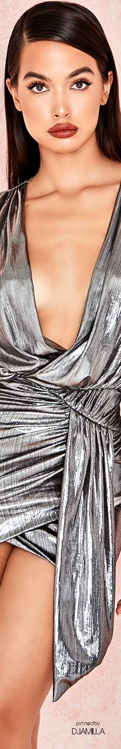 57de4eb074a7 ALVONA' Metallic Silver Drape Mini Dress #Houseofcb | NEW YEAR/TIME ...