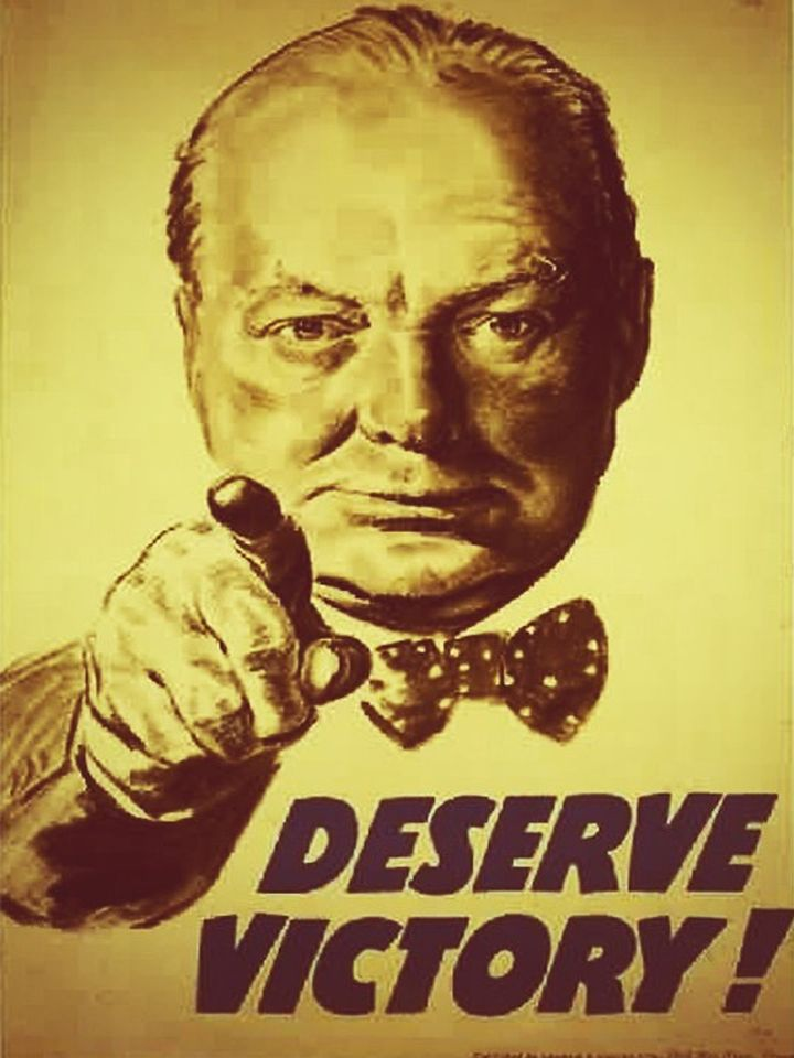 Winston Churchill Deserve #Victory