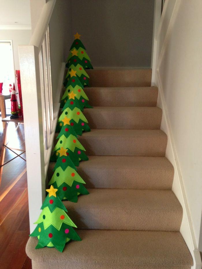 27 Dekoideen Weihnachten - das Treppenhaus weihnachtlich ...