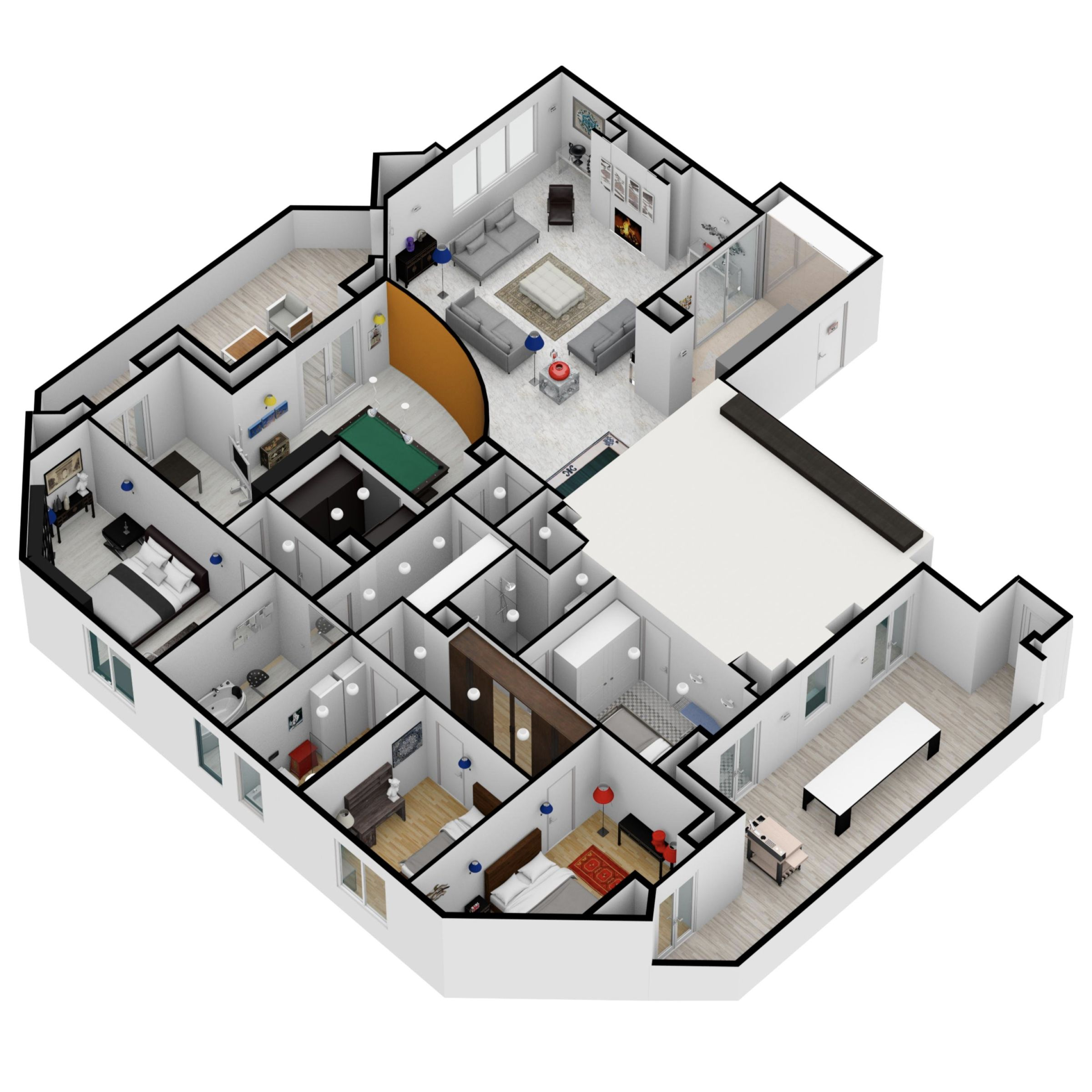 Big Project Made On Floorplanner Com Create Floor Plan Interior Design Software Floor Plans