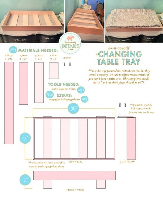 Superieur DIY Changing Table Tray To Hold A Changing Pad And Set On Top Of A Dresser.  No Need To Buy A $200 Changing Table!