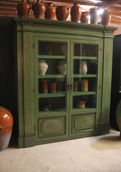 painted mexican furniture   ... display or storage cabinet. Hand painted  details and - Painted Mexican Furniture Display Or Storage Cabinet. Hand