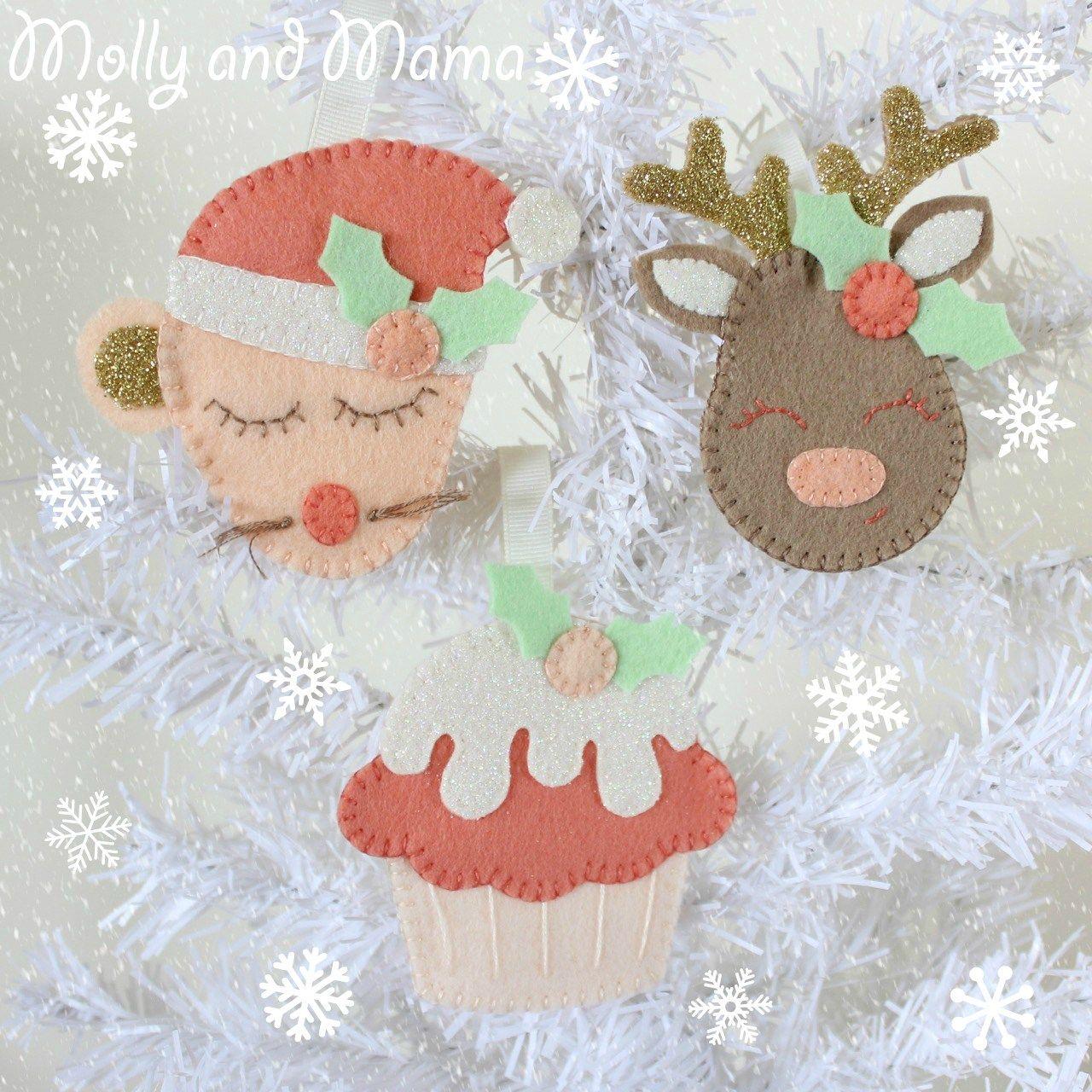 Pin by Sandra Horton on FELT ORNAMENT | Pinterest | Navidad ...