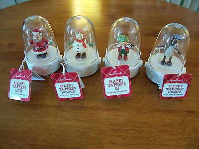Hallmark Happy Tappers 2013 New w/tags -Snowman, Painter elf, Reindeer, Santa
