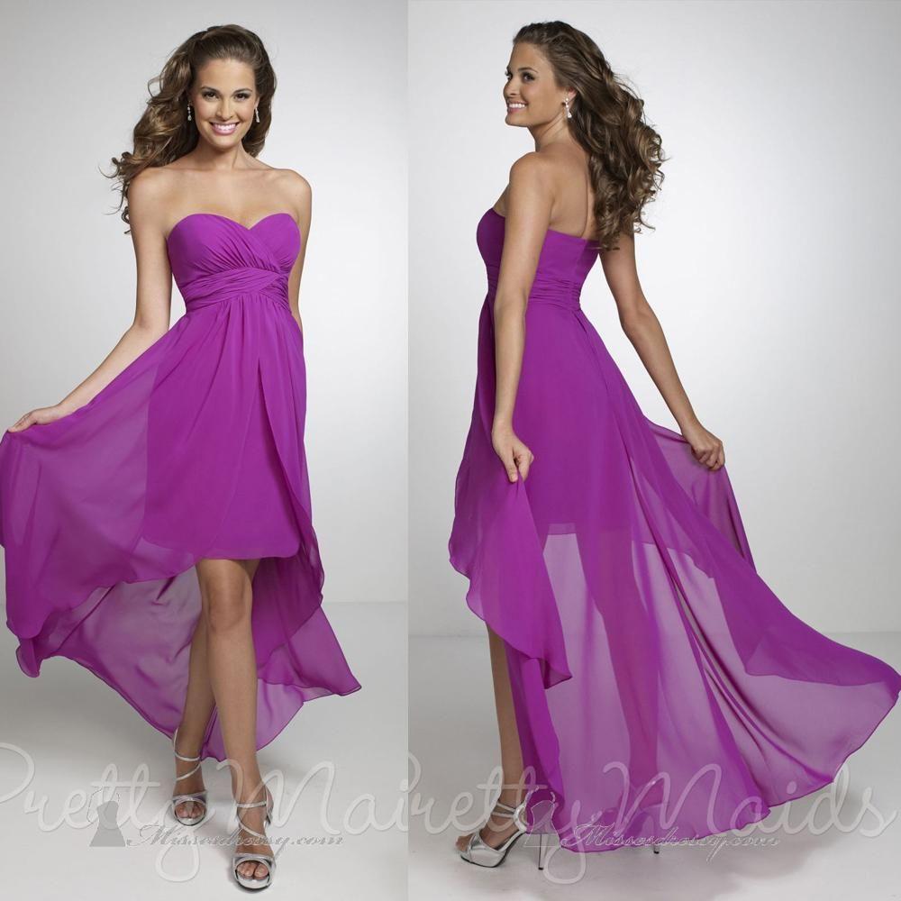 High Low Purple Bridesmaid Dresses Choice Image - Braidsmaid Dress ...