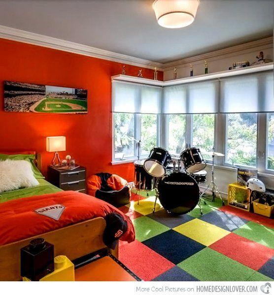 15+ Amazing Tween/Teen Boy Bedrooms   Display shelves, Lovers and ...
