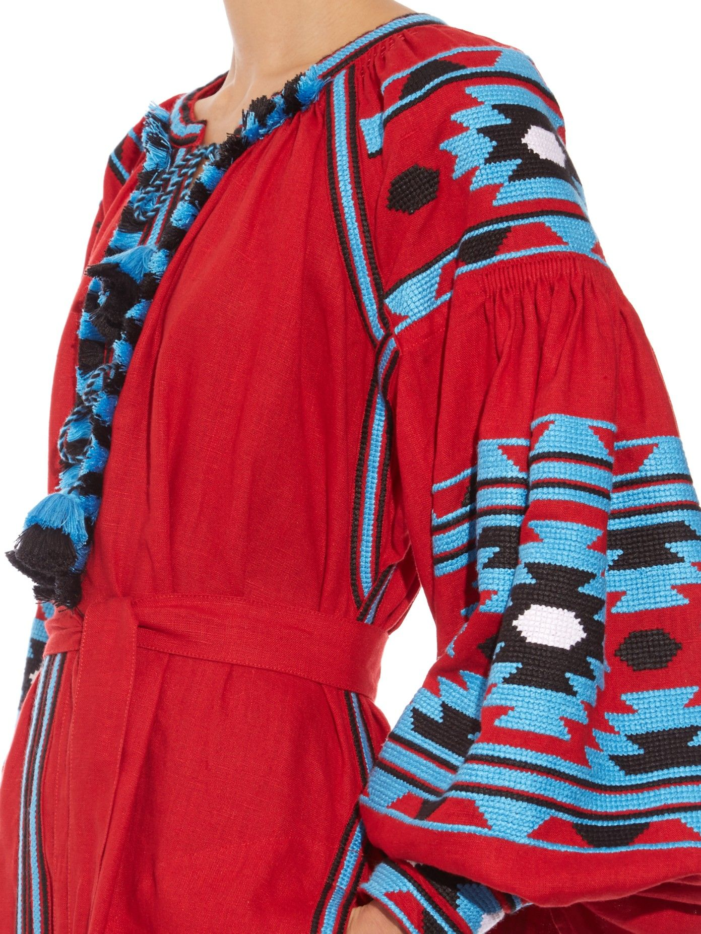 Kilim-embroidered long dress | Vita Kin | MATCHESFASHION.COM
