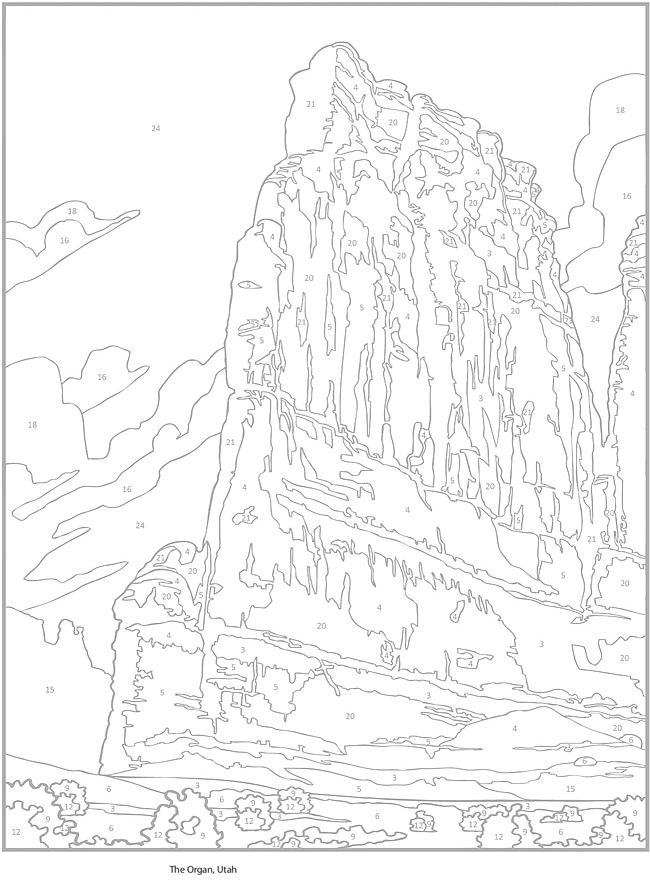 Creative Haven AMERICAN LANDSCAPES COLOR BY NUMBER Coloring Book by ...