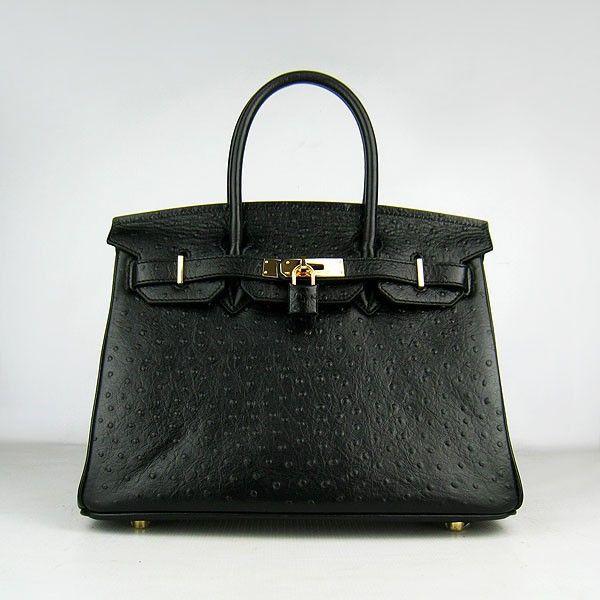 Luxury Replica 1 1 Hermes Birkin 6088 Ladies Black Handbag H02590 -  luxuryhandbagsoutlet.com 2d2f3e7f6fd05