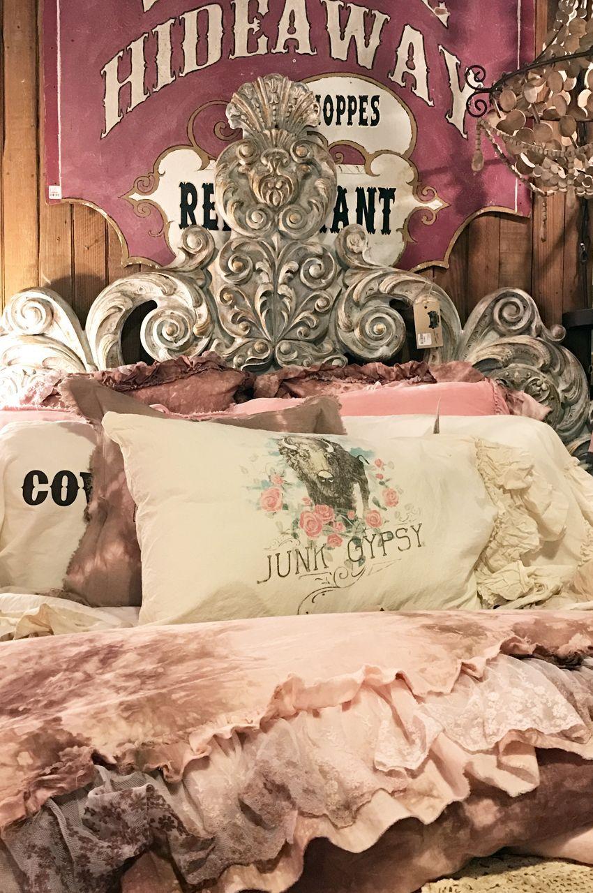. Buffalo rose sham in 2019   Junk Gypsy   Junk gypsy bedroom  Gypsy