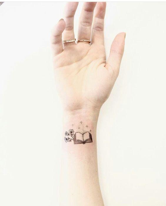 Small Book Tattoo: 24 Wonderful Tattoo Ideas For Book Lovers