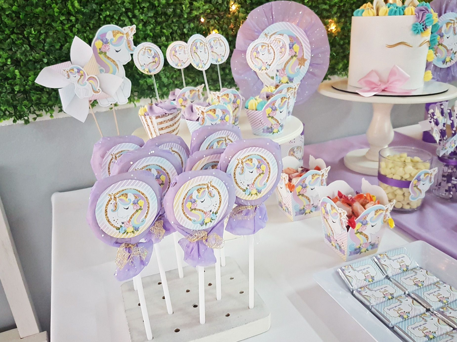 Candy bar unicornios unicornios pinterest unicornios - Ideas decoracion bar ...