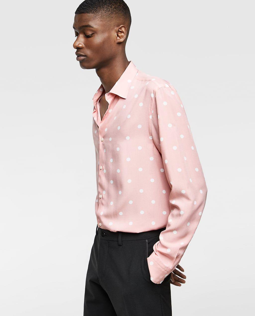 Imagen 2 De Camisa Estampada Lunares De Zara Polka Dot Shirt Shirts Floral Shirt