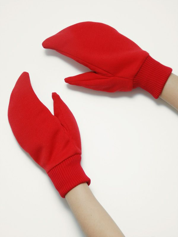 triple major crab claws gloves red ensemble pinterest claw