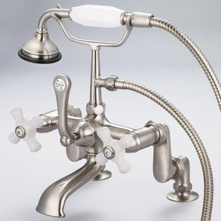 Vintage Classic Adjustable Center Deck Mount Tub Faucet With