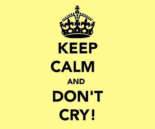 how to keep calm and not cry  howto