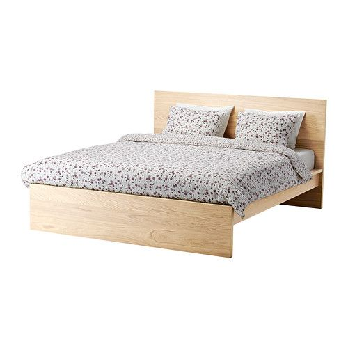 Malm Bed Frame High White Stained Oak Veneer Queen Ikea Malm Bed Frame Ikea Malm Bed Malm Bed